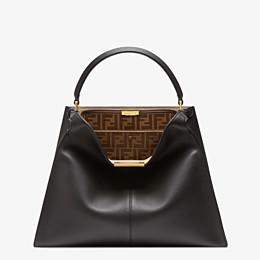 FENDI PEEKABOO X-LITE LARGE - Black leather bag - view 3 thumbnail