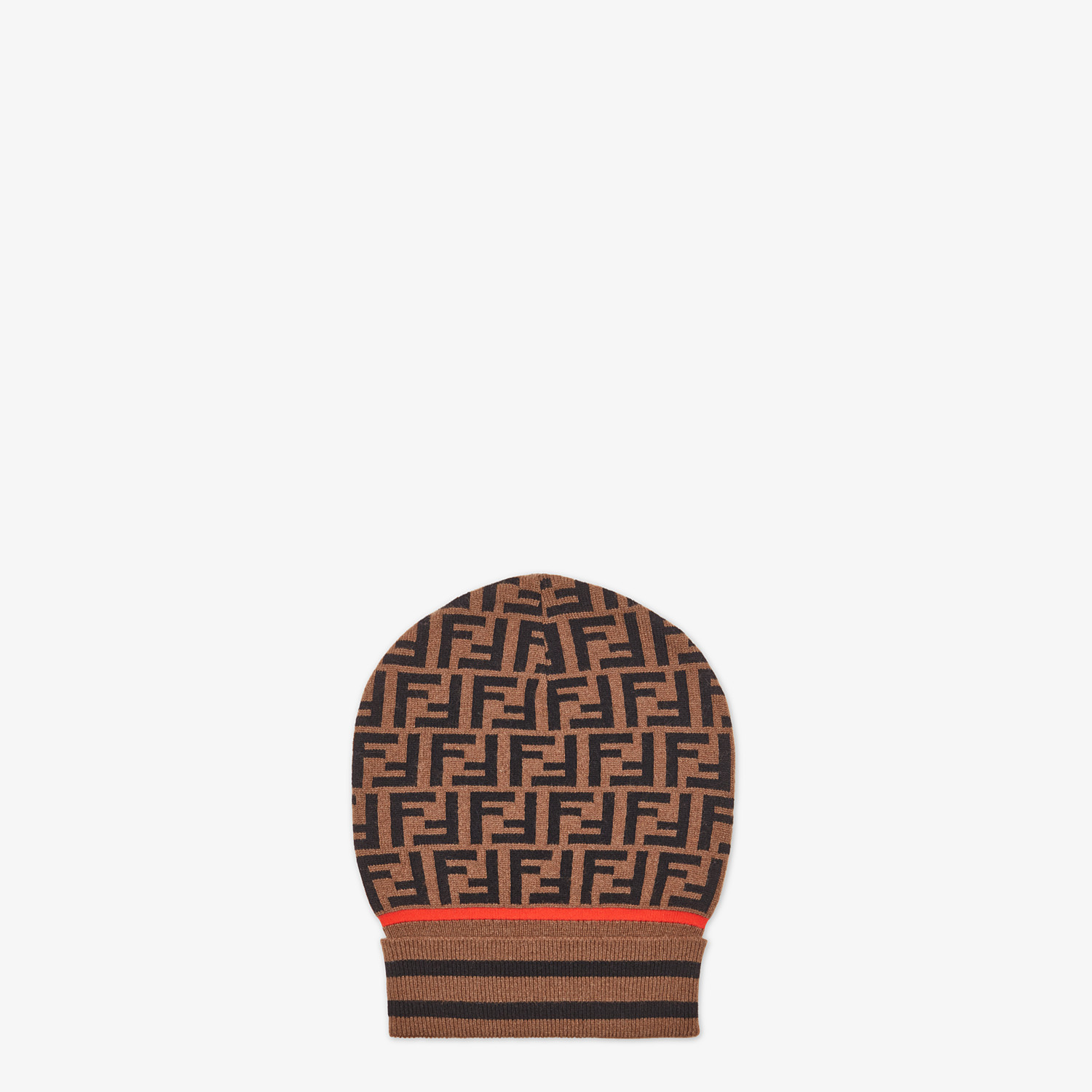 FENDI HAT - Brown hat in cashmere and wool - view 1 detail