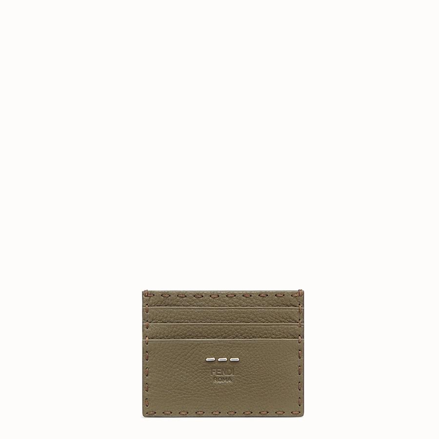 FENDI CARD HOLDER - Green leather card holder - view 1 detail