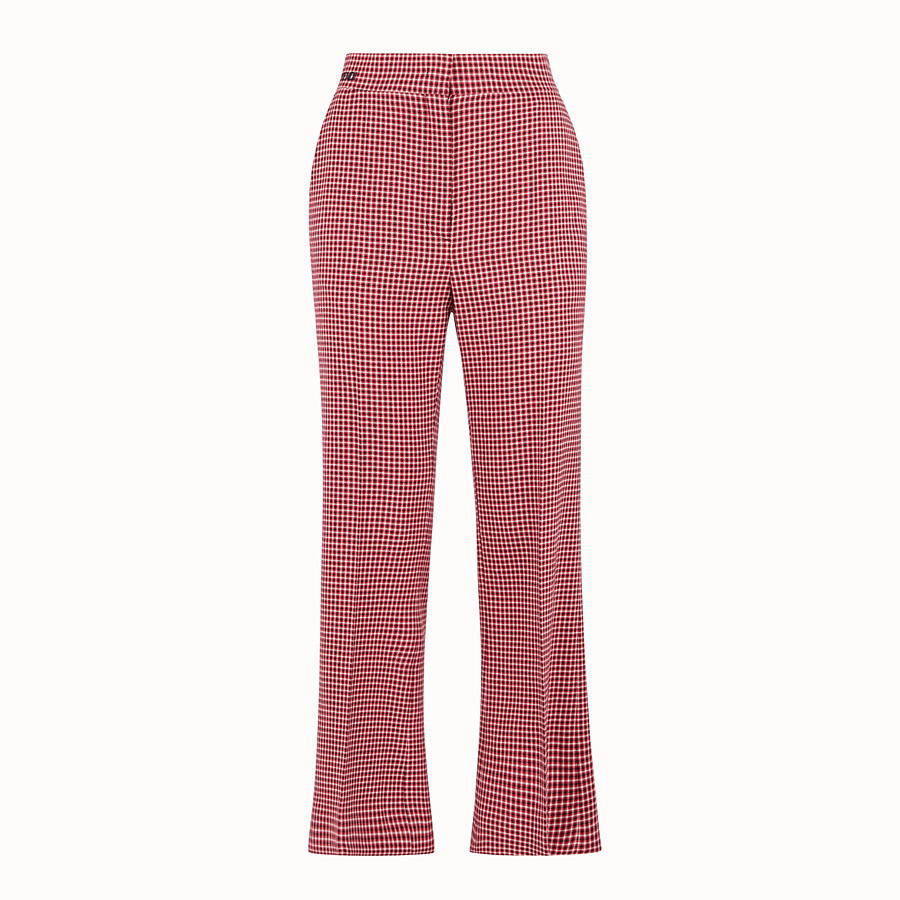 FENDI TROUSERS - Red wool trousers - view 1 detail