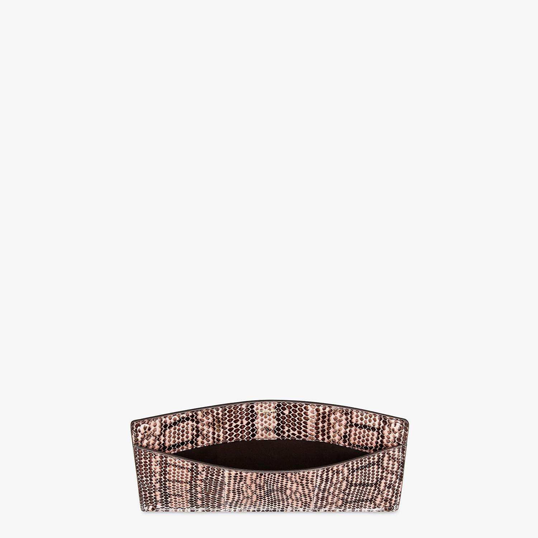 FENDI PEEKABOO ISEEU POCKET - Accessory pocket in pink elaphe - view 3 detail