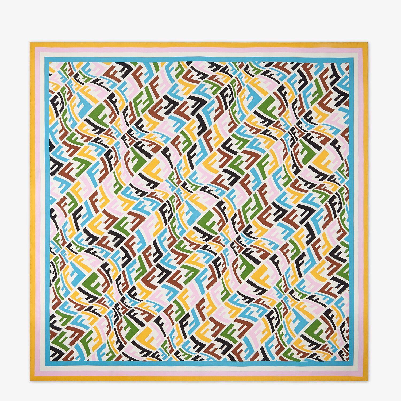 FENDI FF VERTIGO FOULARD - Multicolor twill foulard - view 1 detail