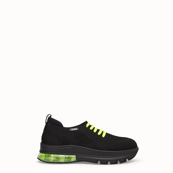 FENDI 運動鞋 - 黑色網紗低筒鞋 - view 1 小型縮圖
