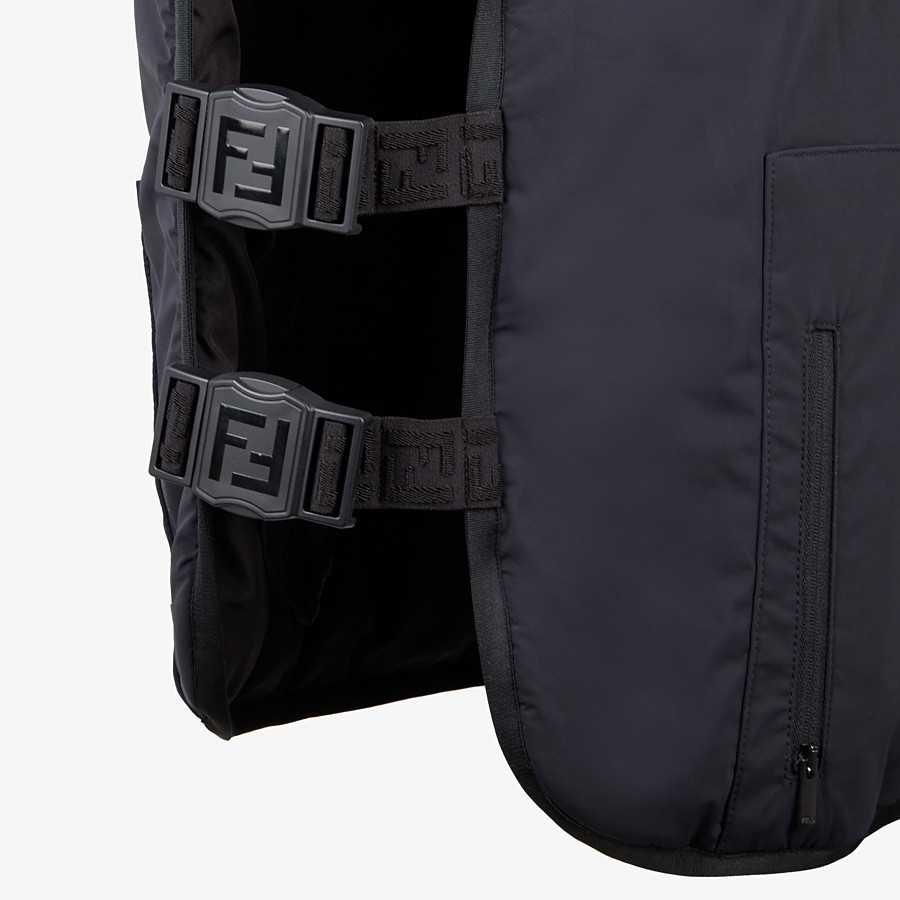 FENDI VEST - Black tech fabric bib - view 3 detail