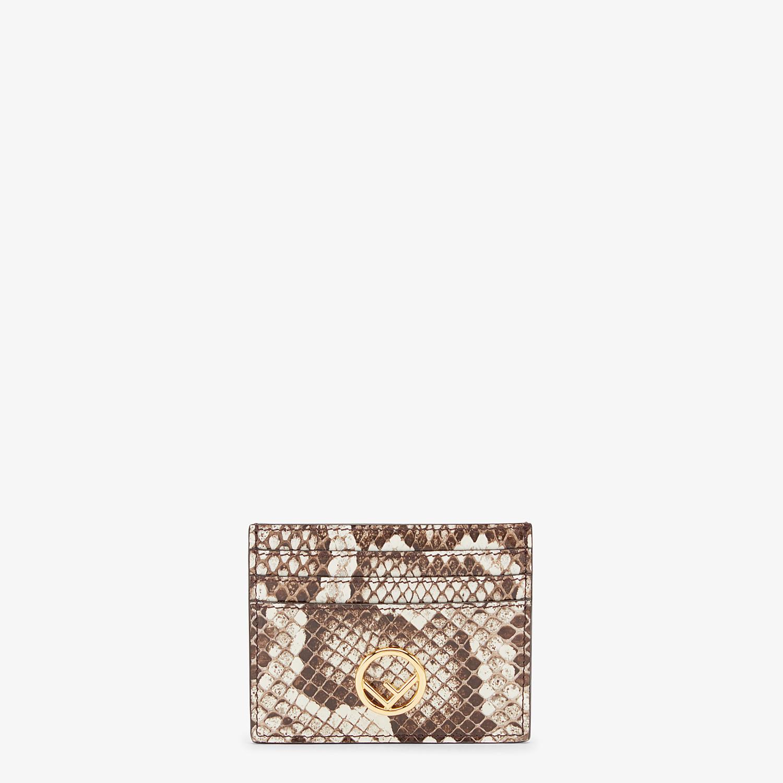 FENDI PORTACARTE - Portacarte piatto in pelle beige ed esotico - vista 1 dettaglio