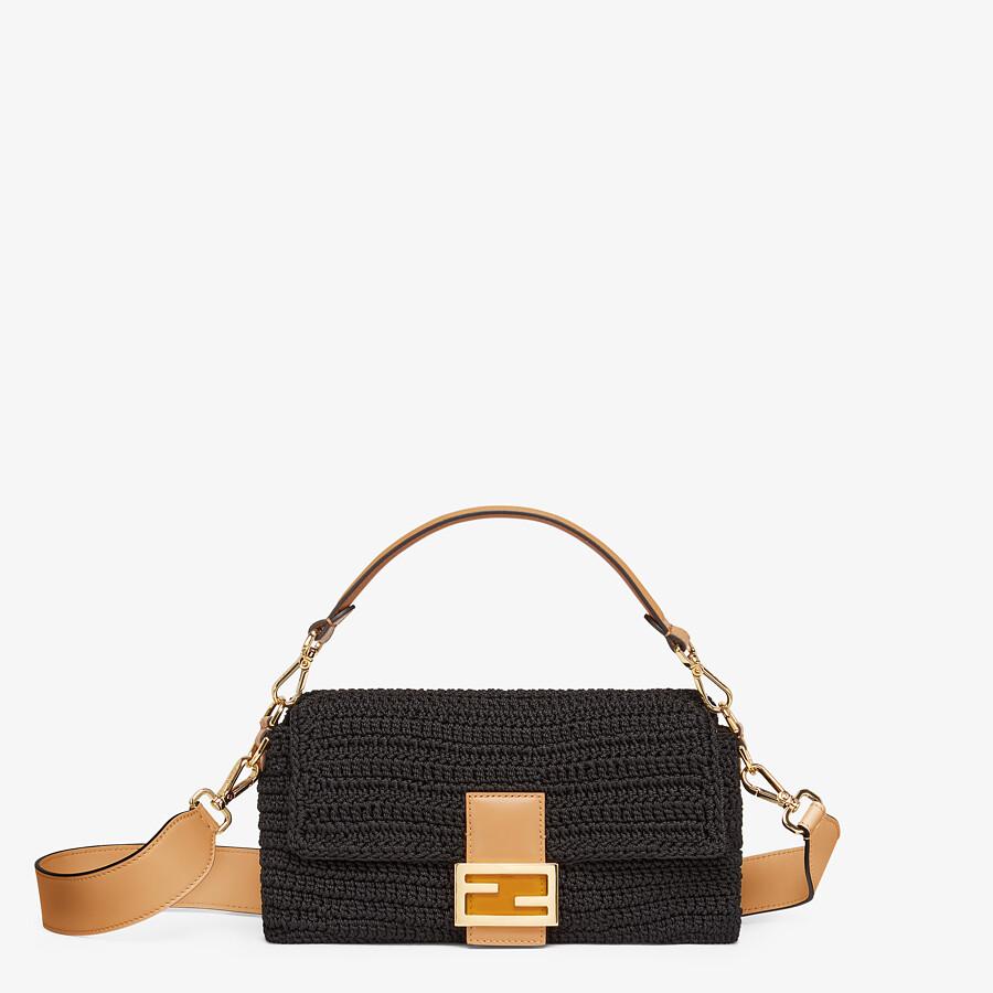 FENDI BAGUETTE - Black cotton crochet bag - view 1 detail