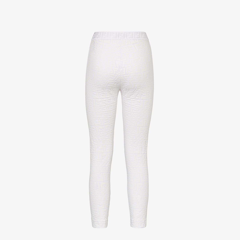 FENDI LEGGINGS - White tech fabric leggings - view 2 detail