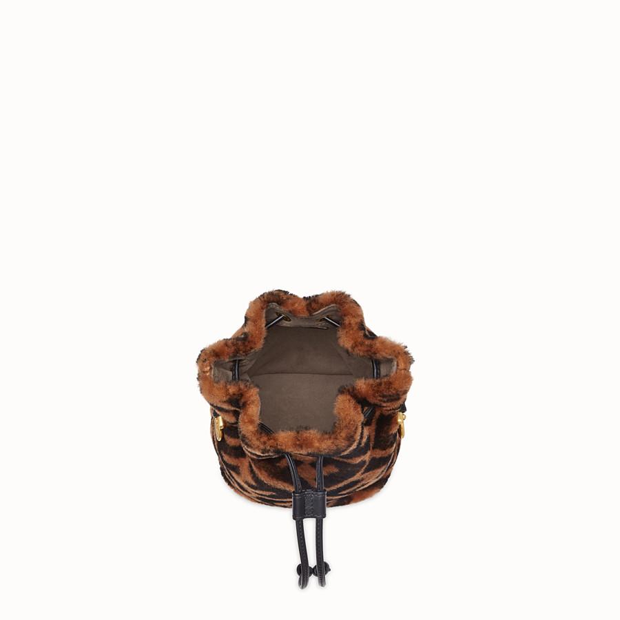 FENDI MON TRESOR - Mini-Tasche aus braunem Schaffell - view 5 detail