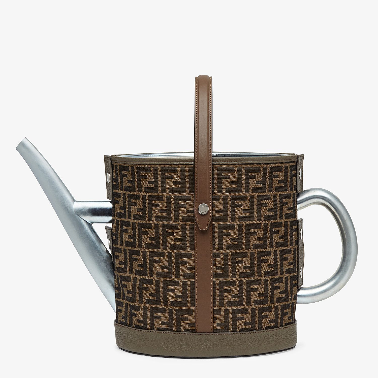 FENDI WATERING CAN - Brown fabric watering can - view 1 detail