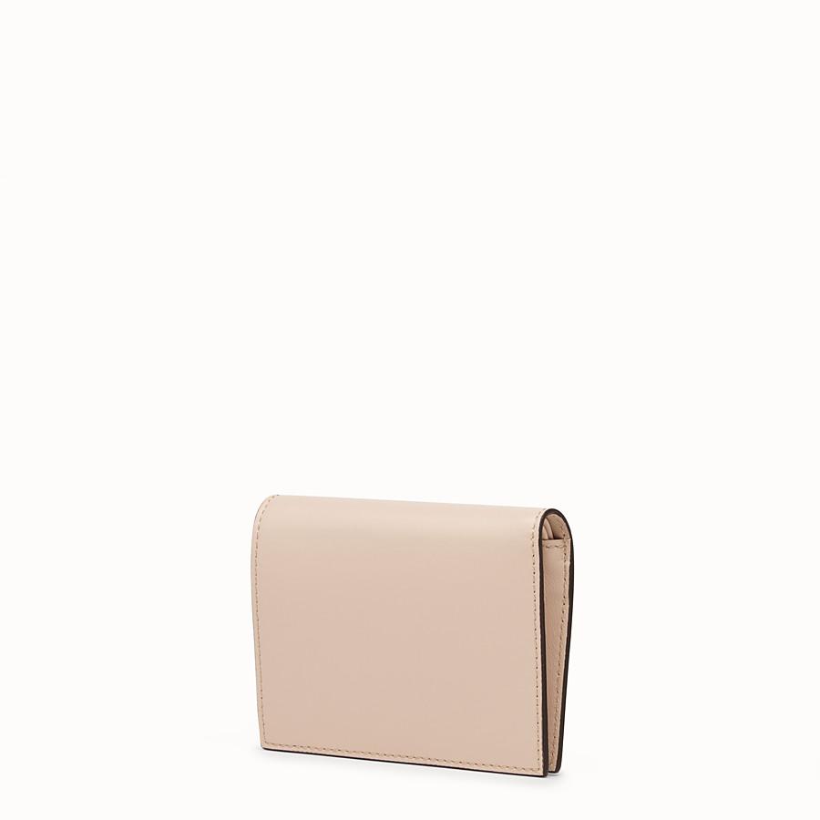 FENDI CARTERA DE DOBLE HOJA - Cartera compacta de piel rosa - view 2 detail