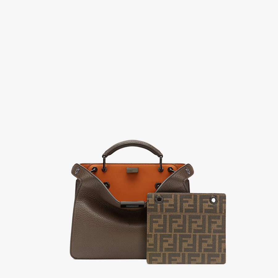 FENDI PEEKABOO ISEEU MINI - Brown leather bag - view 2 detail