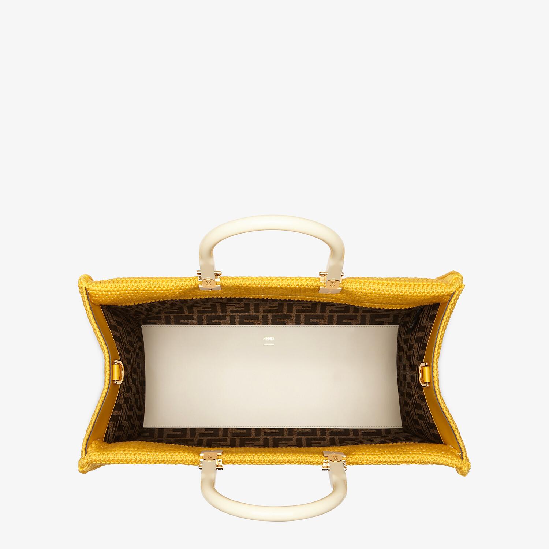 FENDI FENDI SUNSHINE MEDIUM - Yellow cotton crochet shopper - view 4 detail