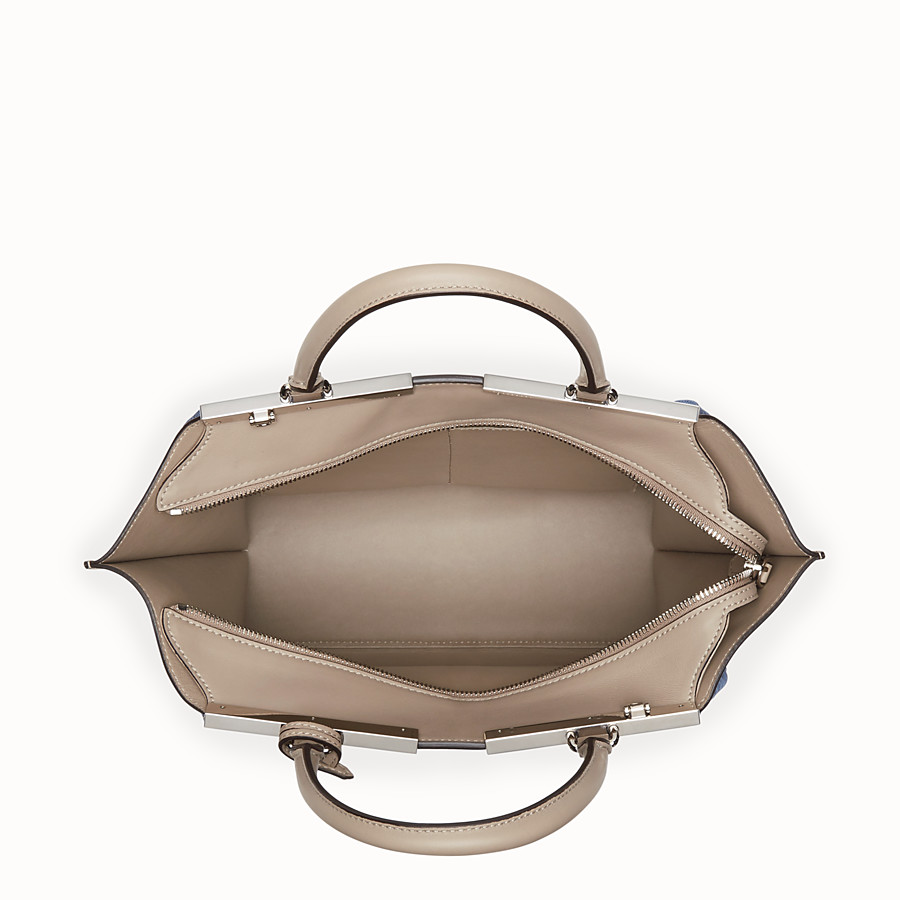 FENDI 3JOURS - Beige leather bag - view 4 detail