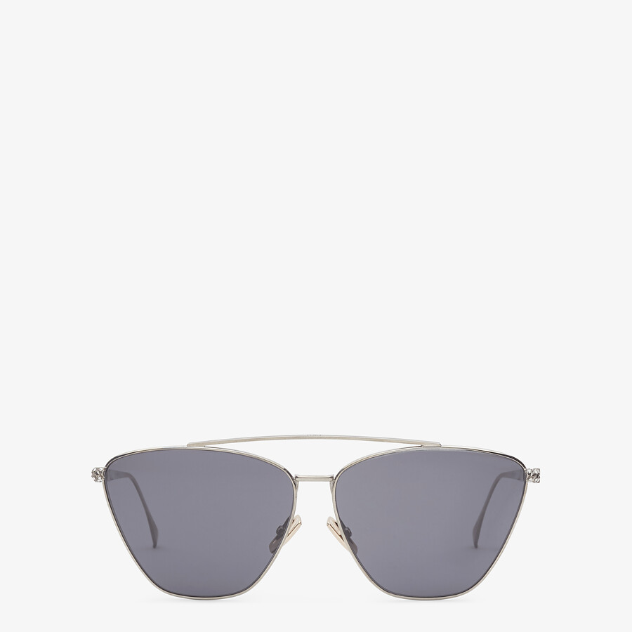 FENDI BAGUETTE - Ruthenium-colored sunglasses - view 1 detail