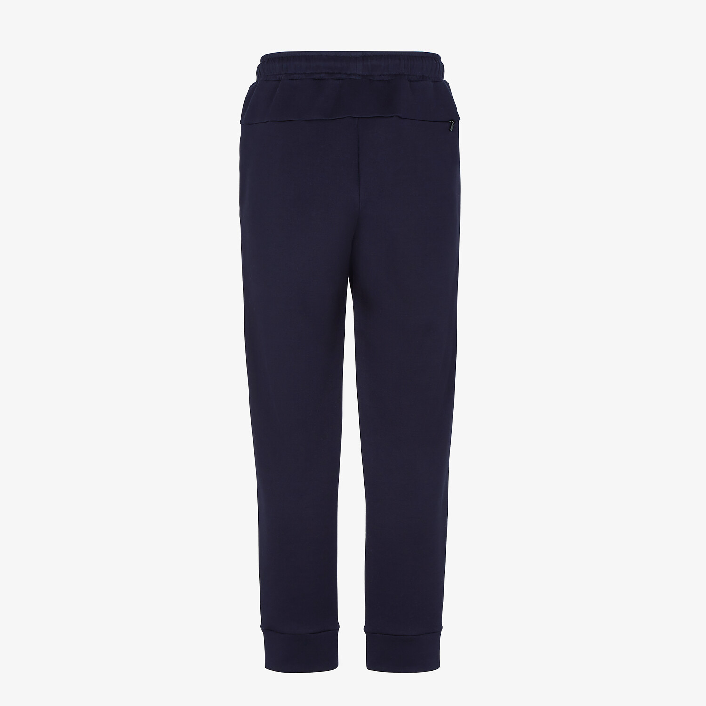 FENDI PANTS - Blue jersey pants - view 2 detail