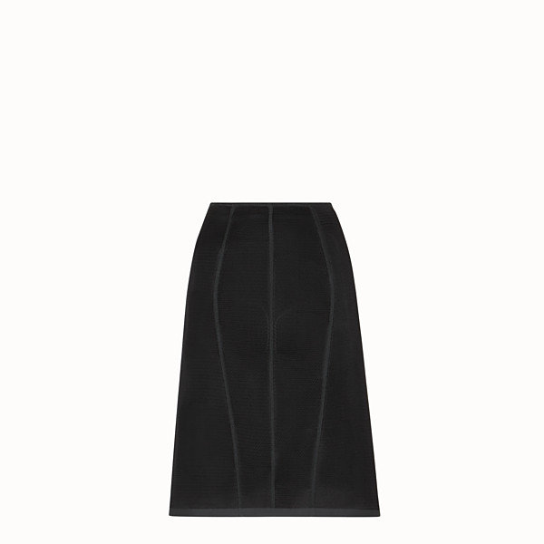 FENDI SKIRT - Black micromesh skirt - view 1 small thumbnail