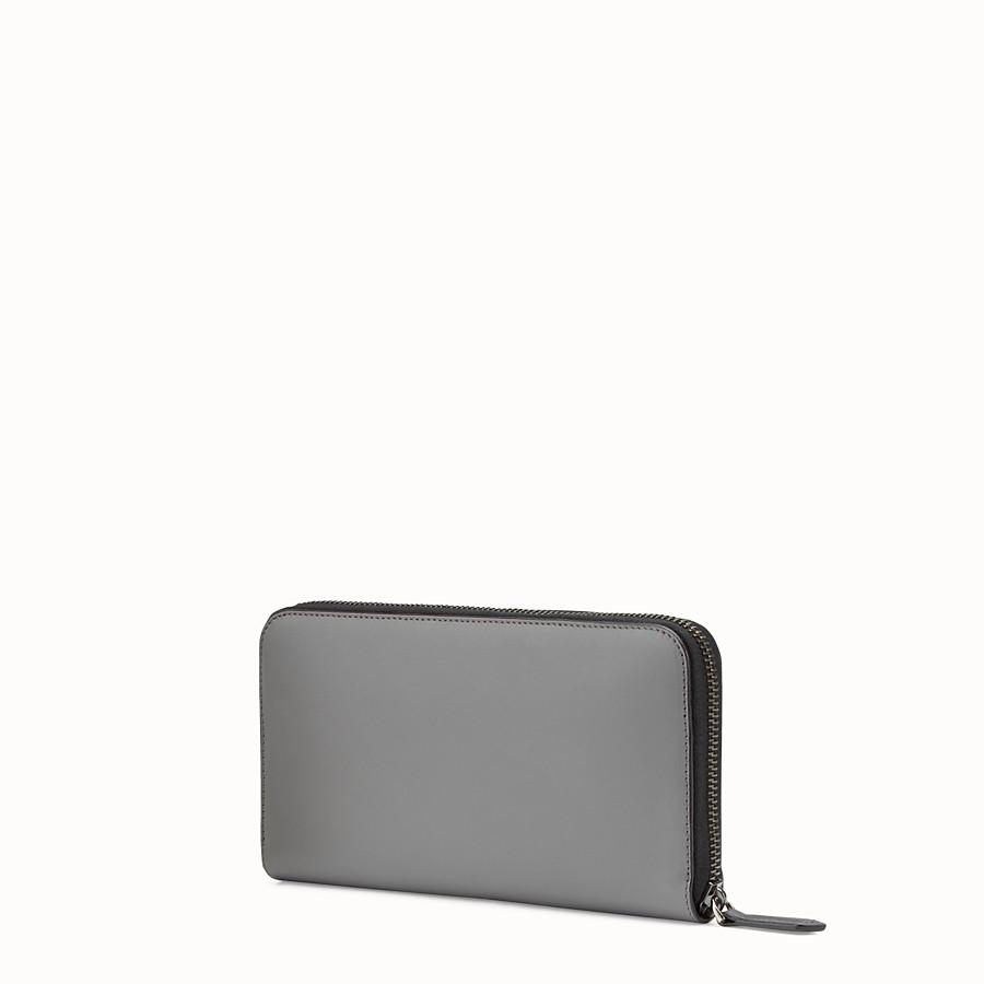 FENDI 皮夾 - 灰色皮革全拉鏈皮夾 - view 2 detail