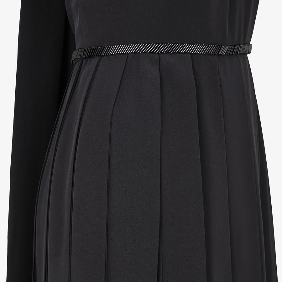 FENDI DRESS - Black silk crêpe de Chine dress - view 3 detail