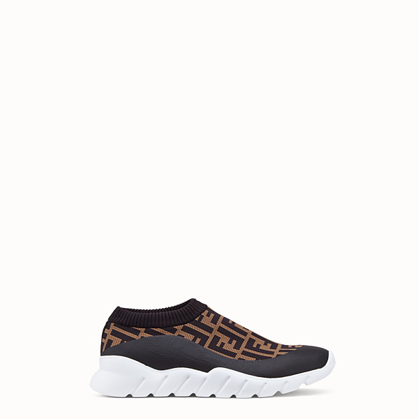 FENDI SNEAKERS - Brown tech fabric low-tops - view 1 small thumbnail