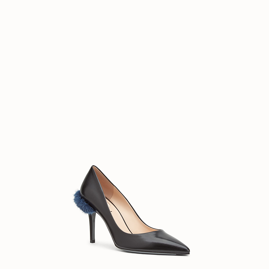 FENDI COURT SHOES - Beige leather court shoes - view 2 detail