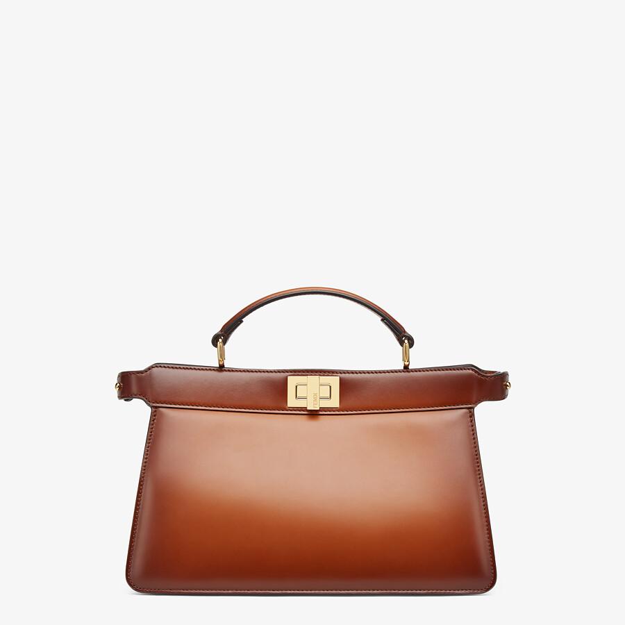 FENDI PEEKABOO ISEEU EAST-WEST - Brown leather bag - view 1 detail