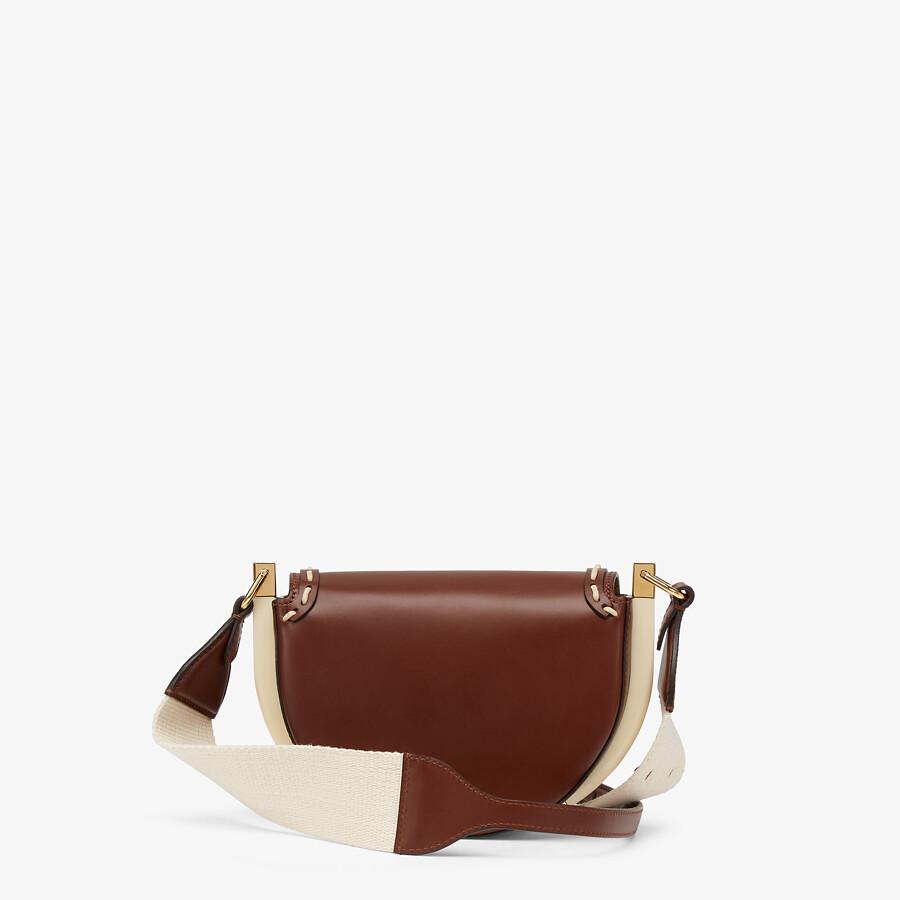 FENDI MOONLIGHT - Brown leather bag - view 3 detail
