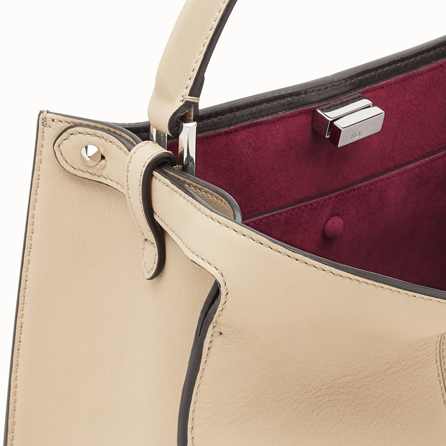 FENDI PEEKABOO X-LITE REGULAR - Beige leather bag - view 7 detail