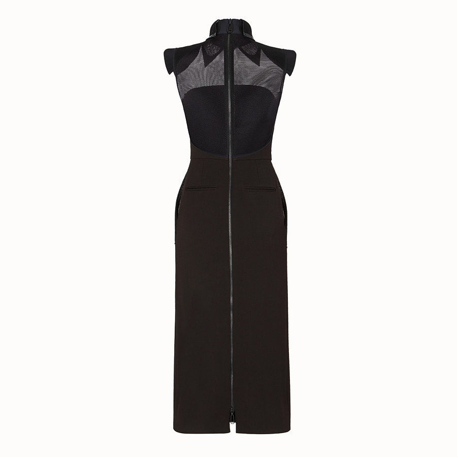 FENDI DRESS - Black gabardine dress - view 2 detail