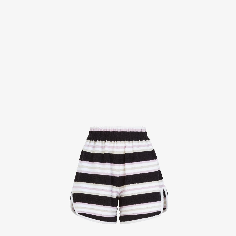 FENDI SHORTS - Multicolour cotton shorts - view 1 detail