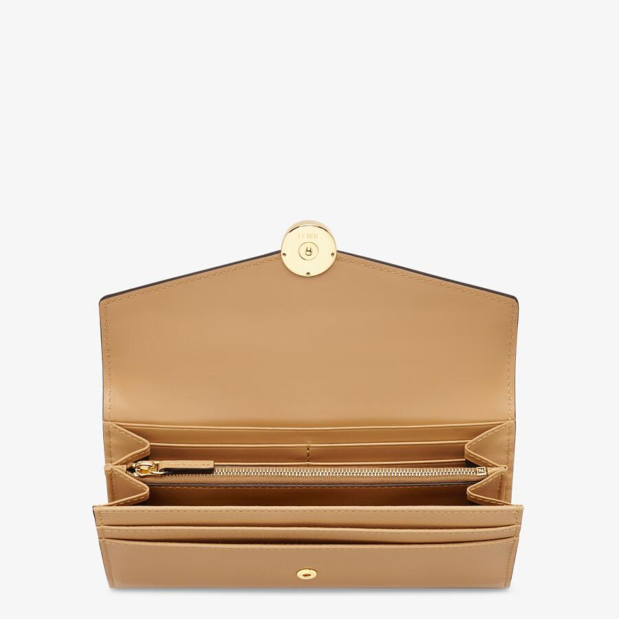 FENDI CONTINENTAL - Beige leather wallet - view 3 detail