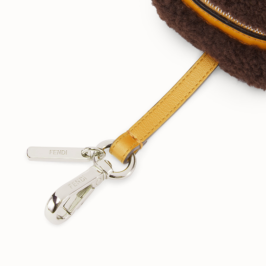 FENDI COIN PURSE - Brown sheepskin charm - view 3 detail