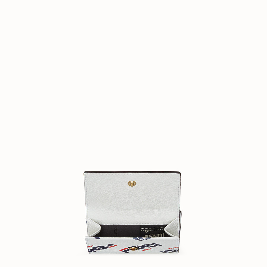 FENDI MICRO TRIFOLD - White leather wallet - view 4 detail