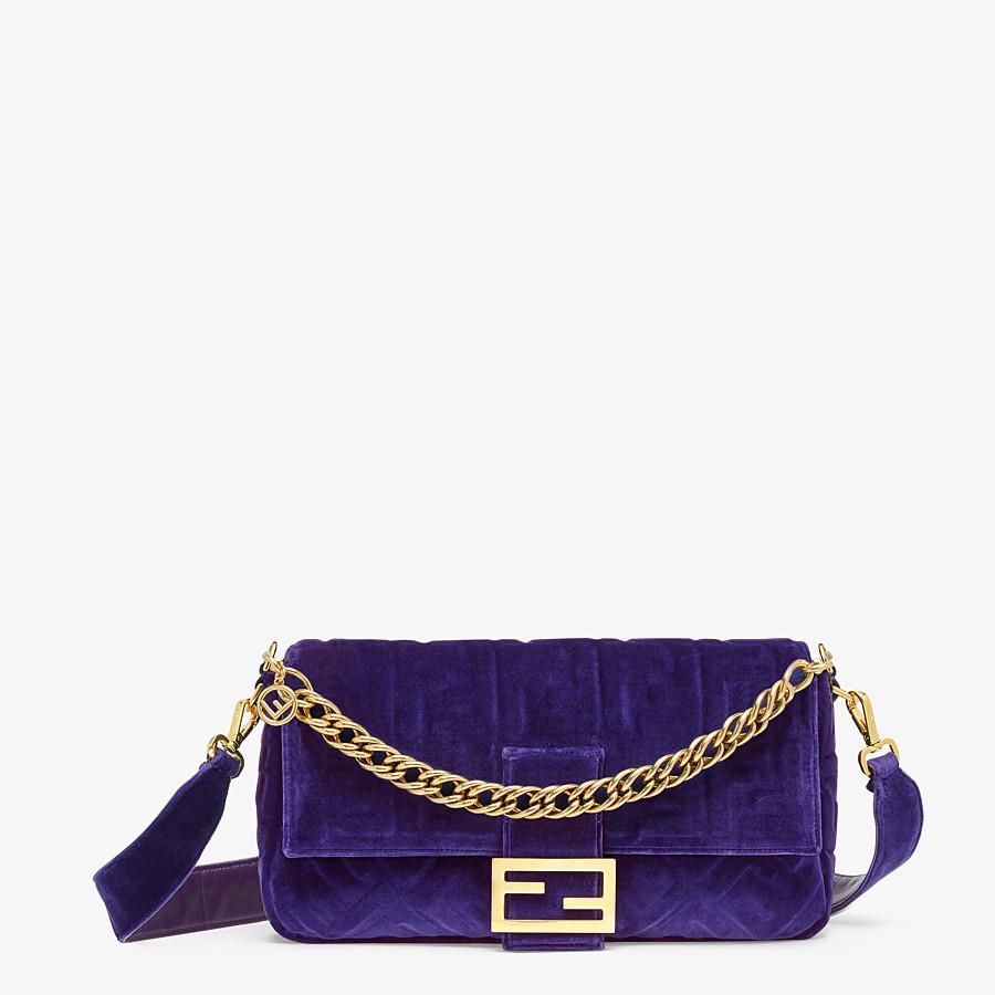 FENDI BAGUETTE GROSSE - Tasche aus Samt in Violett - view 1 detail