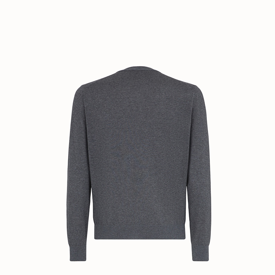 FENDI PULLOVER - Grey wool jumper - view 2 detail
