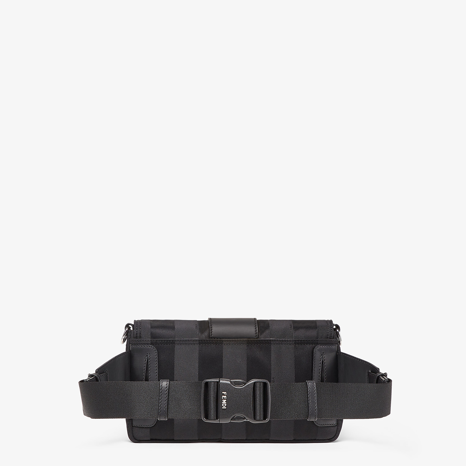 FENDI BAGUETTE - Black nylon bag - view 3 detail