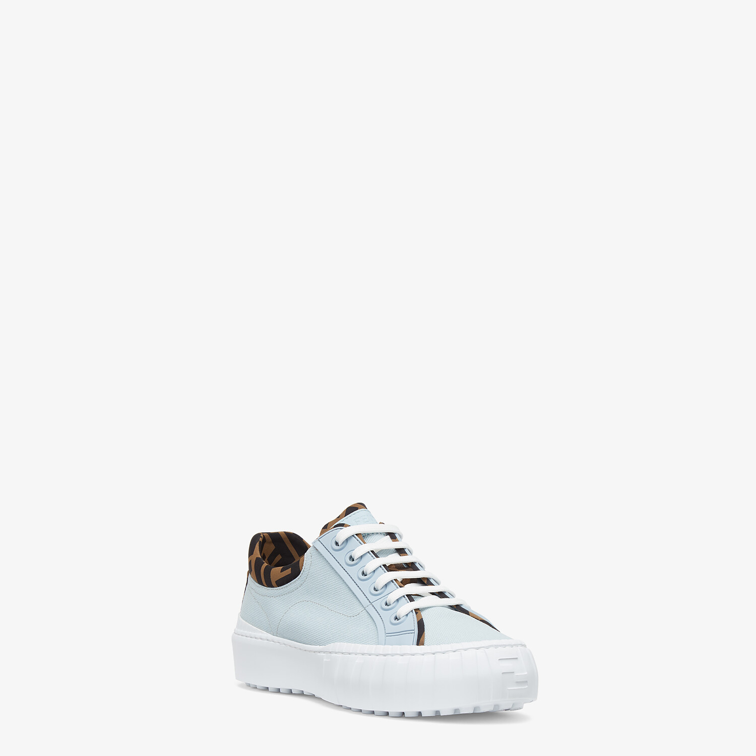 FENDI FENDI FORCE - Light blue canvas and TPU low-tops - view 2 detail