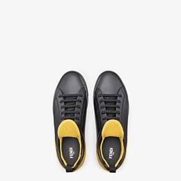 FENDI SNEAKER - Niedriger Sneaker aus Leder in Schwarz - view 4 thumbnail