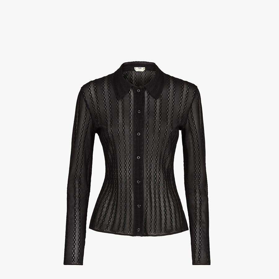 FENDI CARDIGAN - Black lace cardigan - view 1 detail