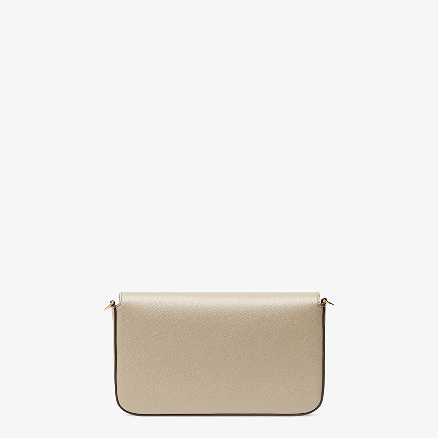 FENDI WALLET ON CHAIN WITH POUCHES - Beige leather minibag - view 4 detail