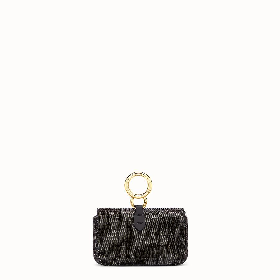FENDI NANO BAGUETTE - Black leather charm - view 4 detail