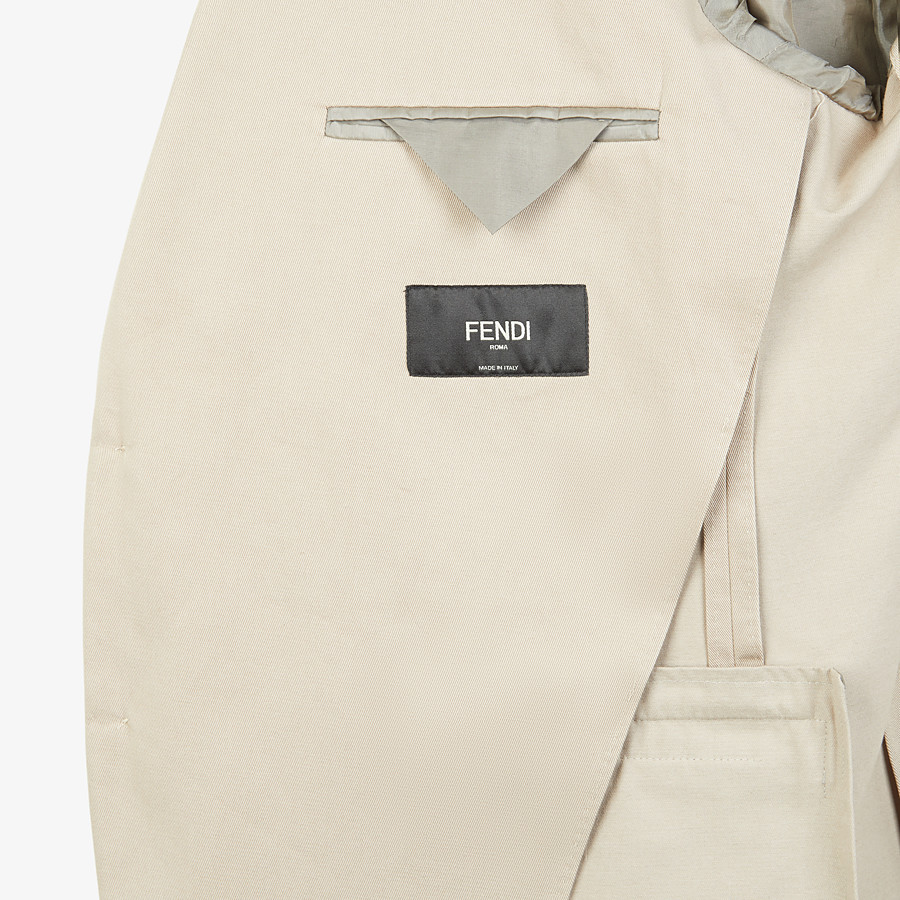 FENDI JACKET - White cotton blazer - view 5 detail