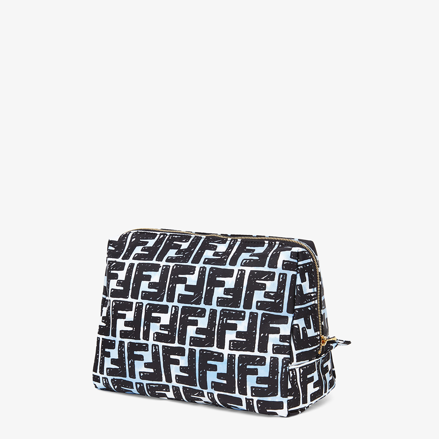 FENDI MEDIUM MAKEUP POUCH - Multicolor nylon toiletry case - view 2 detail