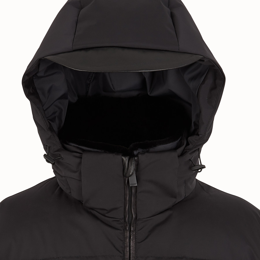 FENDI SKI JACKET - Black nylon down jacket - view 3 detail