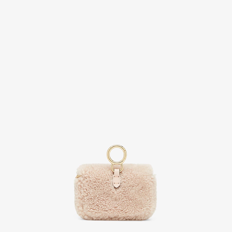 FENDI NANO BAGUETTE CHARM - Pink sheepskin charm - view 4 detail