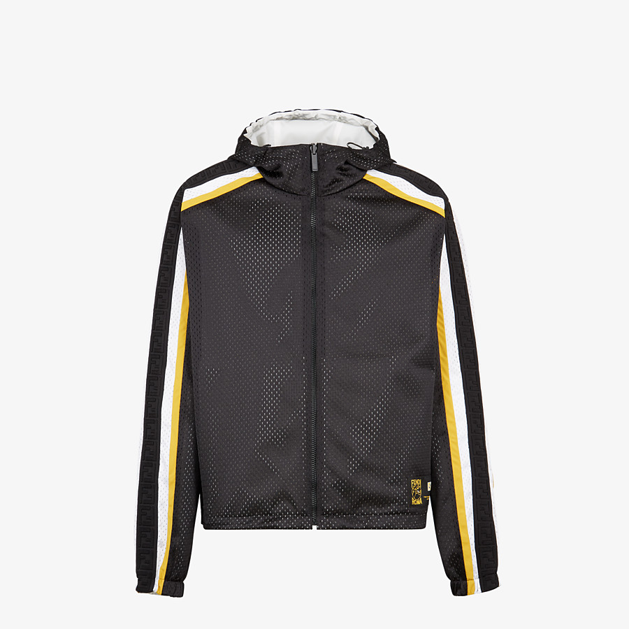 FENDI WINDBREAKER - Black tech mesh windbreaker - view 1 detail
