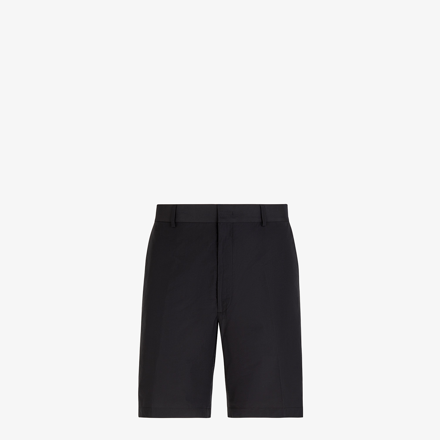 FENDI BERMUDAS - Black nylon and cotton pants - view 1 detail