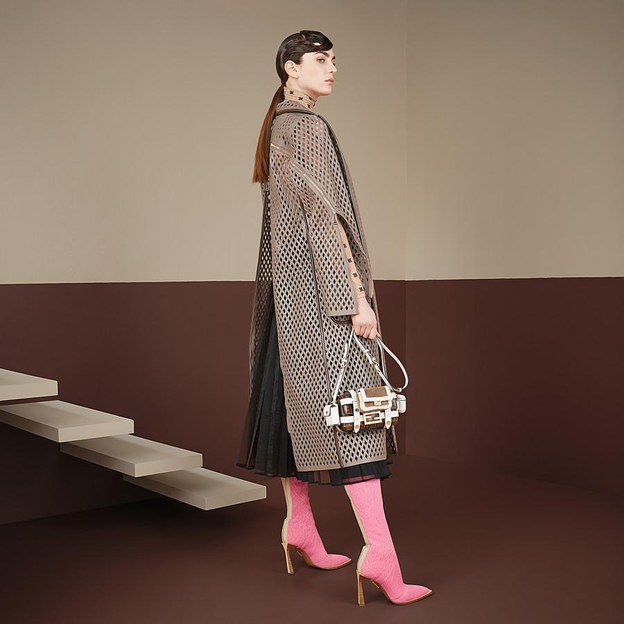 FENDI BAGUETTE MINI CAGE - Tasche aus Leder und Stoff Mehrfarbig - view 2 detail