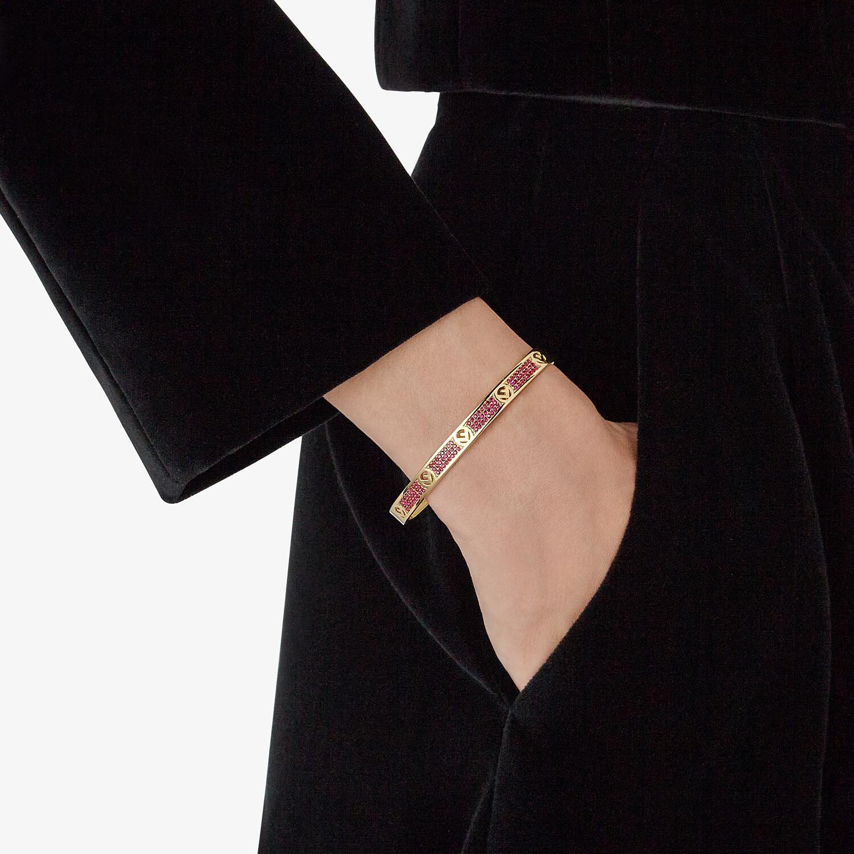 FENDI F IS FENDI BRACELET - Gold-colour bracelet - view 3 detail