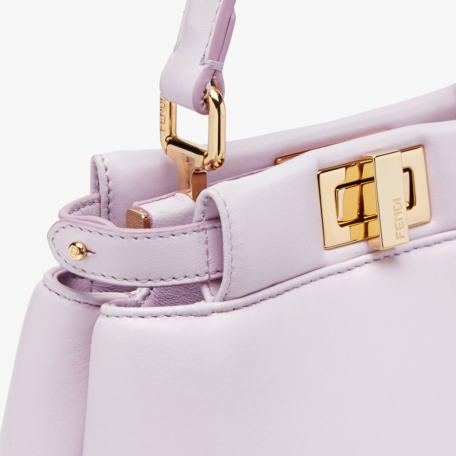 FENDI PEEKABOO ICONIC XS - Lilac nappa leather bag - view 6 detail