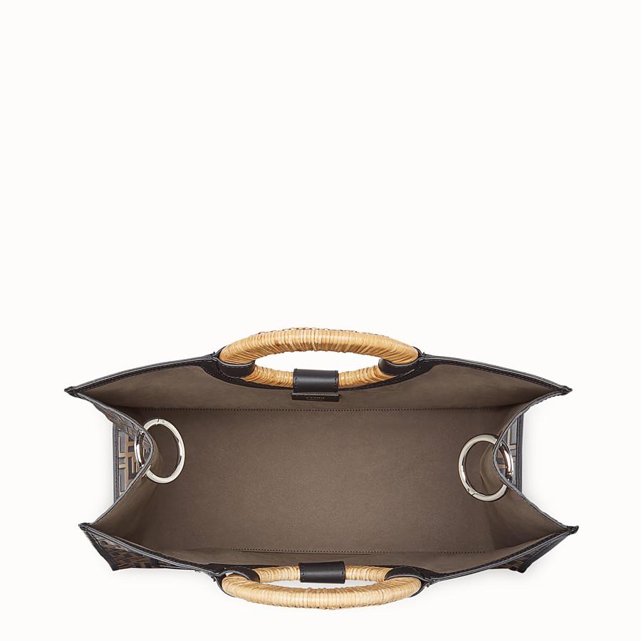 FENDI RUNAWAY SHOPPER - Multicolour leather shopper - view 4 detail